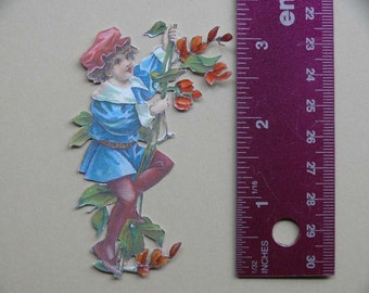 Vintage 3-D Art--Mother Goose Series 4--Jack And The Beanstalk  PD4U