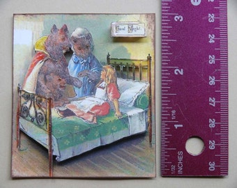 Vintage 3-D Art--Mother Goose Series 3--Goldilocks 2  PD4U