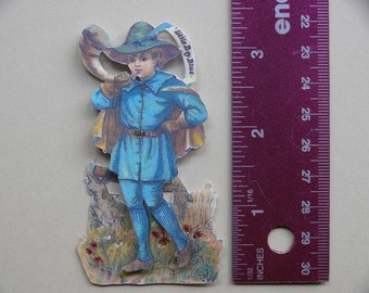 Vintage 3-D Art--Mother Goose Series 5-- Little Boy Blue   PD4U
