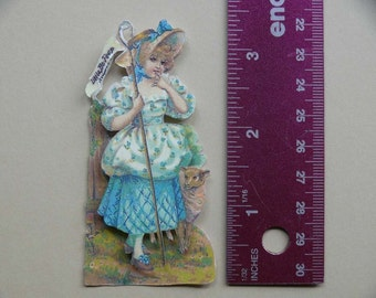 Vintage 3-D Art--Mother Goose Series 6--Little Bo Peep   PD4U