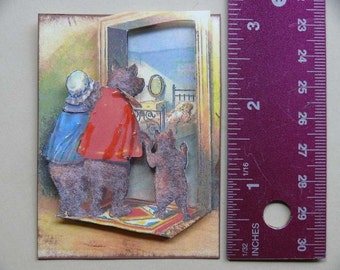 Vintage 3-D Art--Mother Goose Series 2--Goldilocks 1   PD4U