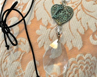 Crystal Chandelier  Key to Your Heart Necklace #2