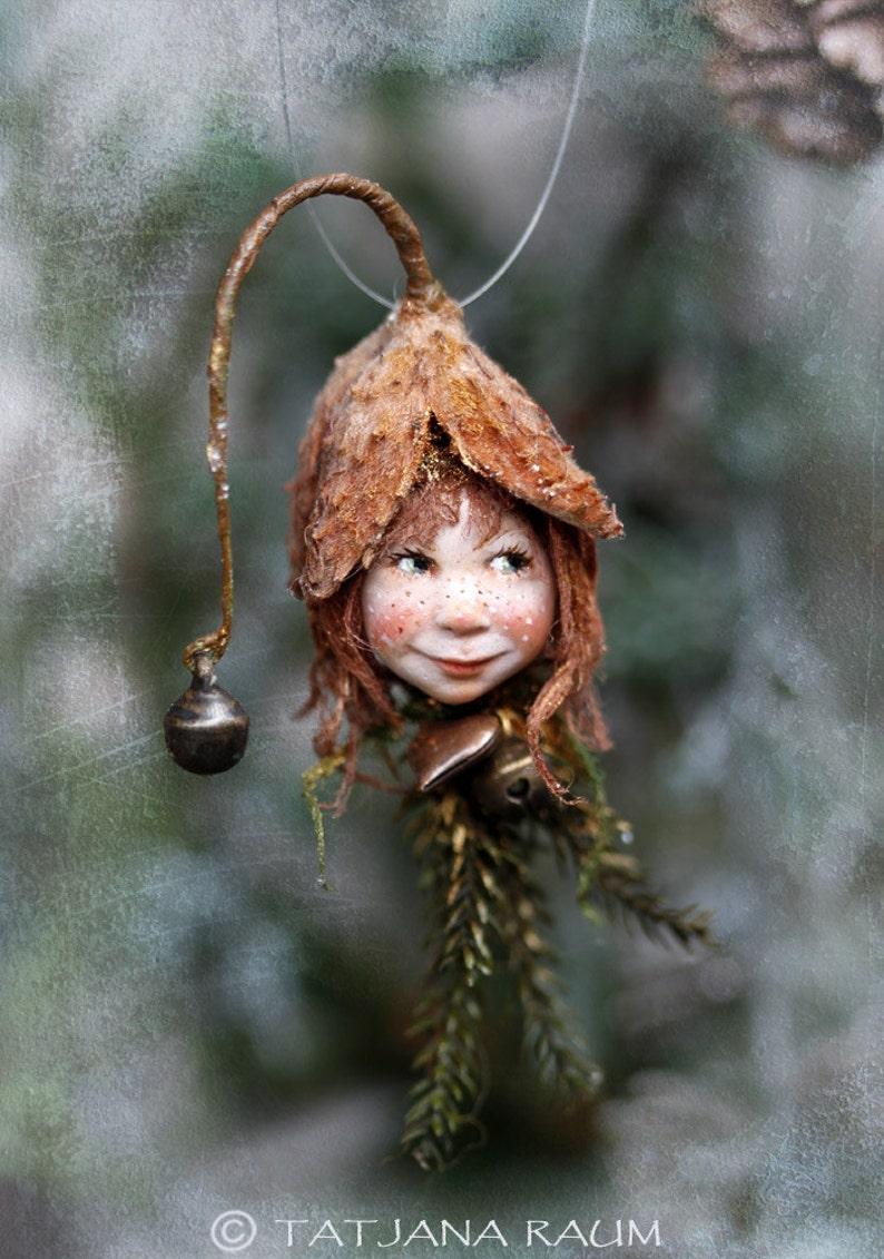 Elf Mädchen Luna Handgemachte Dekoration Zapfenkind Etsy