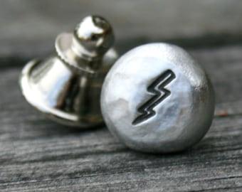Tie Tack - Lapel Pin - Lightning Bolt