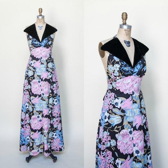 1970s Dress / Vintage Maxi Dress Young Innocent