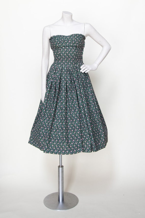 Strapless Dress / Vintage Dress XXS