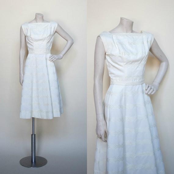 1960s Pat Premo Dress --- Vintage Cream Wedding Dr