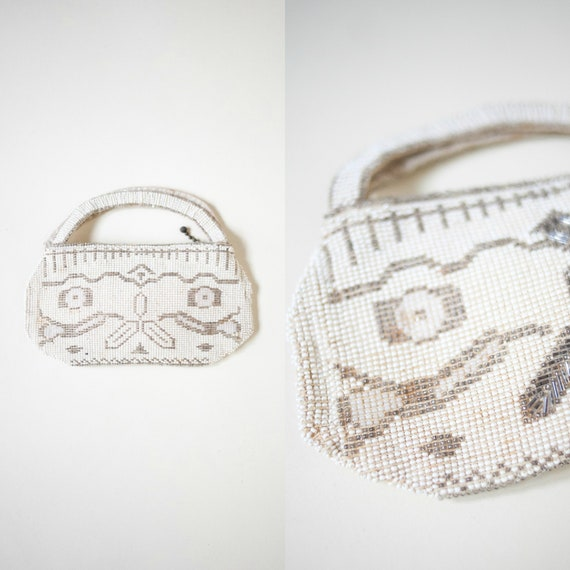 1930s Czech Beaded Purse --- Vintage Wedding Purse