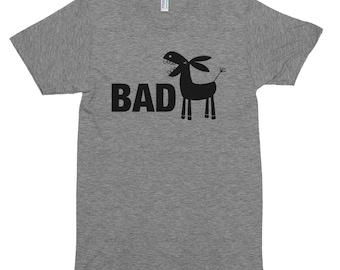 Bad Ass Funny Grey American Apparel T-shirt