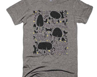 Play In The Woods Heather Grey Short Sleeve Bella + Canvas Unisex T-Shirt
