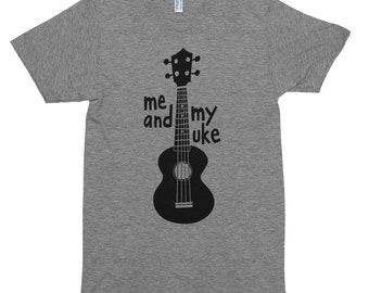 Me and My Uke Ukulele Musician American Apparel T-shirt