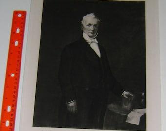 President JAMES BUCHANAN   ~ White House Portrait, 1901, America,  Americana United States American President Antique Art Print inv#BP6