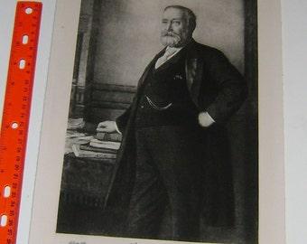 President BENJAMIN HARRISON   ~ White House Portrait, 1901, America,  Americana United States American President Antique Art Print inv#BP11