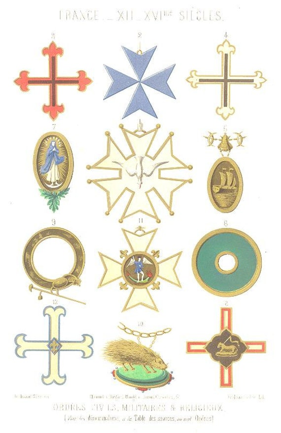 Military Religious Orders Symbols Medieval And Renaissance Etsy