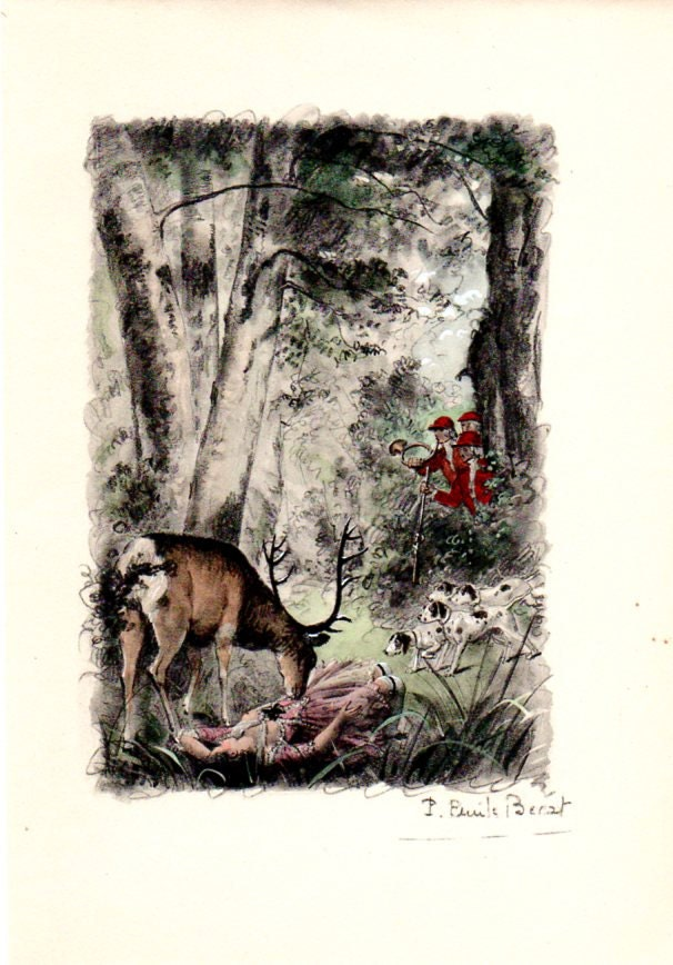 Beagles Hunting Stag Woman Woods Nude French Girls Paul -7564