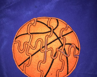 Custom Embroidered Felt Basketball Puzzle Quiet Toy