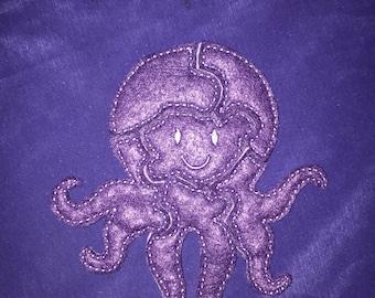 Custom Embroidered Felt Octopus Puzzle Quiet Toy