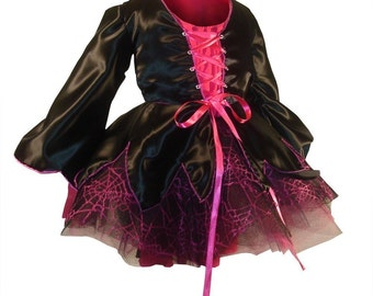 Sweet Lil Witch Tutu Custom Sized Costume - Includes  Tutu, Overskirt, Blouse and Hat