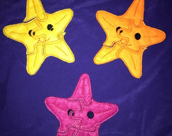 Custom Embroidered Felt Starfish Puzzle Quiet Toy - Choose your colors!