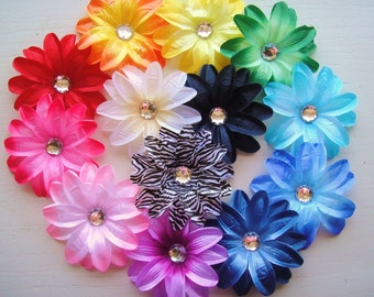 YOU CHOOSE - One Lily Flower Rhinestone Hair Clip in Your Choice of Color