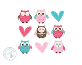 Items Similar To Mindy Blue And Pink Baby Owl And Heart