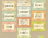 Items Similar To Pantry Kitchen Stickers Labels Print