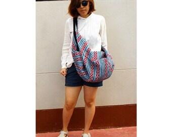 Cotton bag Big bag Comfy bag Backpack Handbags Hand woven Hippie bag Hobo bag Shoulder bag Sling bag Messenger bag Cross body Purse (H 29)