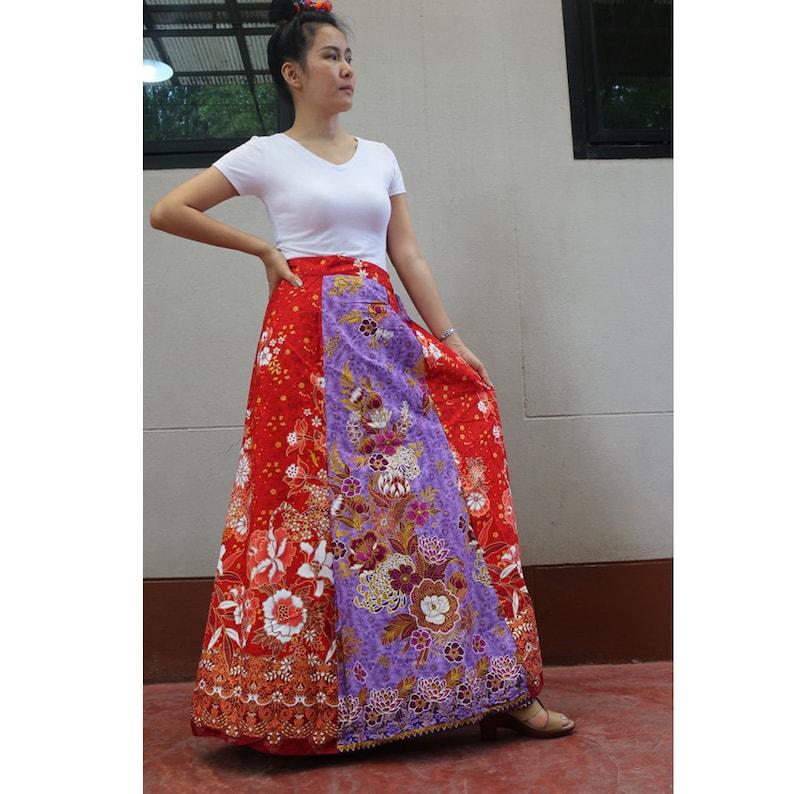 45dc98b74a5 Tropical Batik Handmade 8 Pieces floral Thai batik Sarong