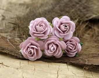 Flower Hair Pins- Mulberry Piurple Rose Hair Pins, Wedding Hair Accessories, Hair Clip, floral Bobby Pin (FL395)
