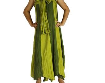 Boho Hippie 2 in 1 Smock Maxi Dress& Summer Long Skirt (SD 09)