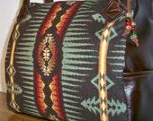 Pendleton Wool Purse Leather Handbag Shoulder Bag
