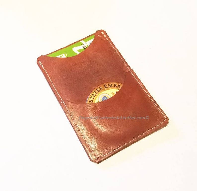 Challenge Coin and Card Holder - Leather (MIS127)