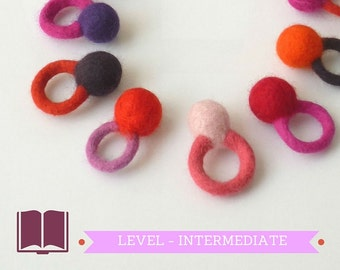 DIY - PDF workshop seamless felted ring - Bubble ring - Intermediate level - Instant download