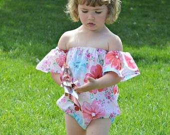 Baby Off-Shoulder Playsuit 0 months through 5t PDF downloadable