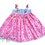 Knot Dress Pattern with top length sizes nb through 12 girls PDF