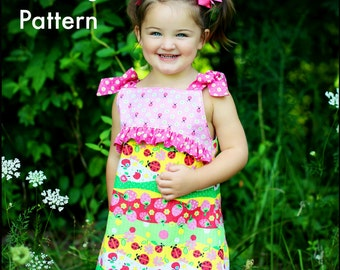 Girls Dress Pattern --Child's Play-- Whimsy Couture 3 months - 12 girls PDF Instant