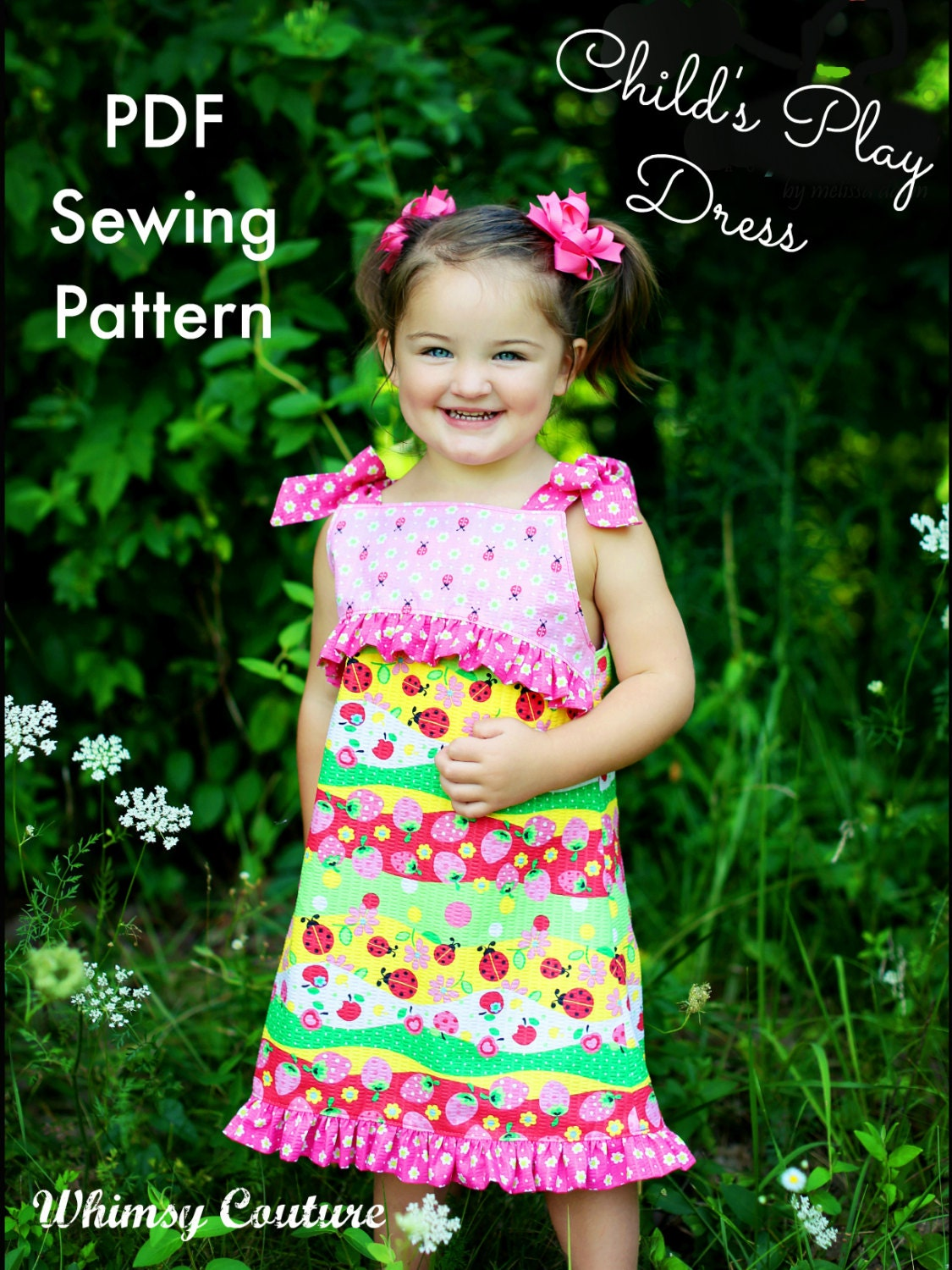 Girls Dress Pattern Child\'s Play Whimsy Couture 3   Etsy