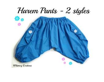 Harem Pants Pattern Tutorial 3 months through 5t