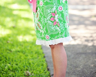 Ladies Skirt Sewing Pattern Tutorial  sizes xs s m l xl xxl PDF