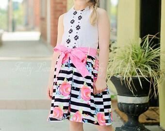 Girls Halter Dress Pattern - Fiorella- 12-18m through 16 girls