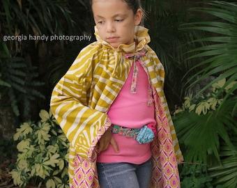 Girls Jacket Pattern PDF --Ruffler Peasant-- newborn - 12 girls Instant