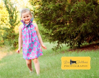 Poet Collar Top/Dress Whimsy Couture Sewing Pattern/Tutorial PDF sizes 0m - 12 girls Instant