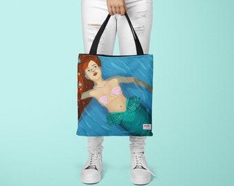Shoulder Bag: Mermaid Princess in the Ocean All Over Print