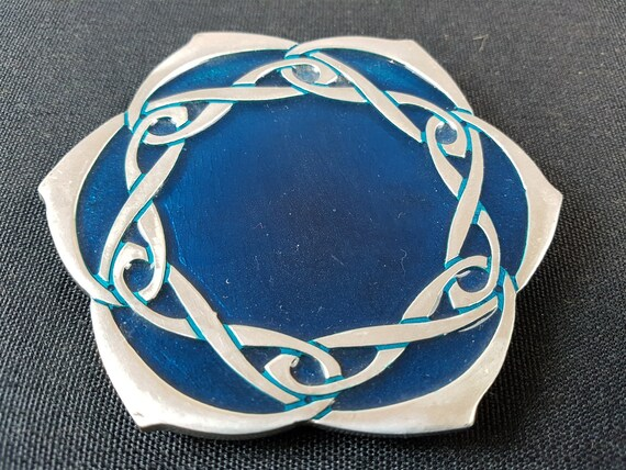 Vintage Jewelry Ring Pin or Coin Tray Dish  Celtic