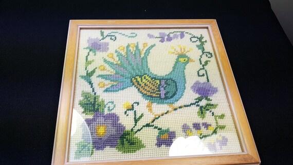 Birds 4 Together Needlepoint**Framed