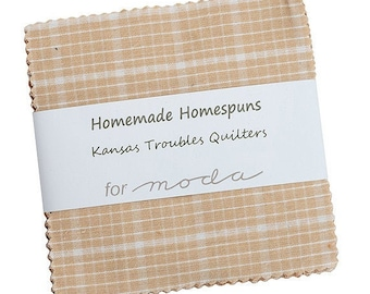 """PRE-ORDER, Homemade Homespuns, 5"""" Charm Pack, Kansas Troubles, Moda Fabric, Quilting Cotton Squares, 9660PP, July 2021 Release"""