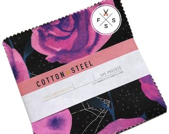 "Cotton + Steel Eclipse Precut 5"" Charm Pack Fabric Quilting Cotton Squares SQ36"