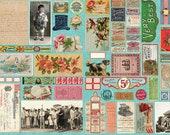 Flea Market Mix, Patina Digital Panel, Cathe Holden Fabric, 100 Cotton, 7350-15D, 1264
