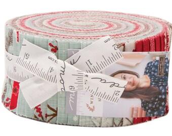sale fabric moda return to winters lane jelly roll 25 precut fabric quilting strips kate birdie 13170jr
