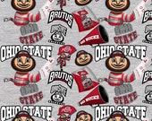 NCAA Ohio State University, OHS-1164, 100 Cotton Fabric, 795